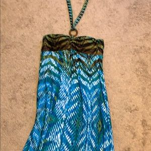 Floor length halter top maxi